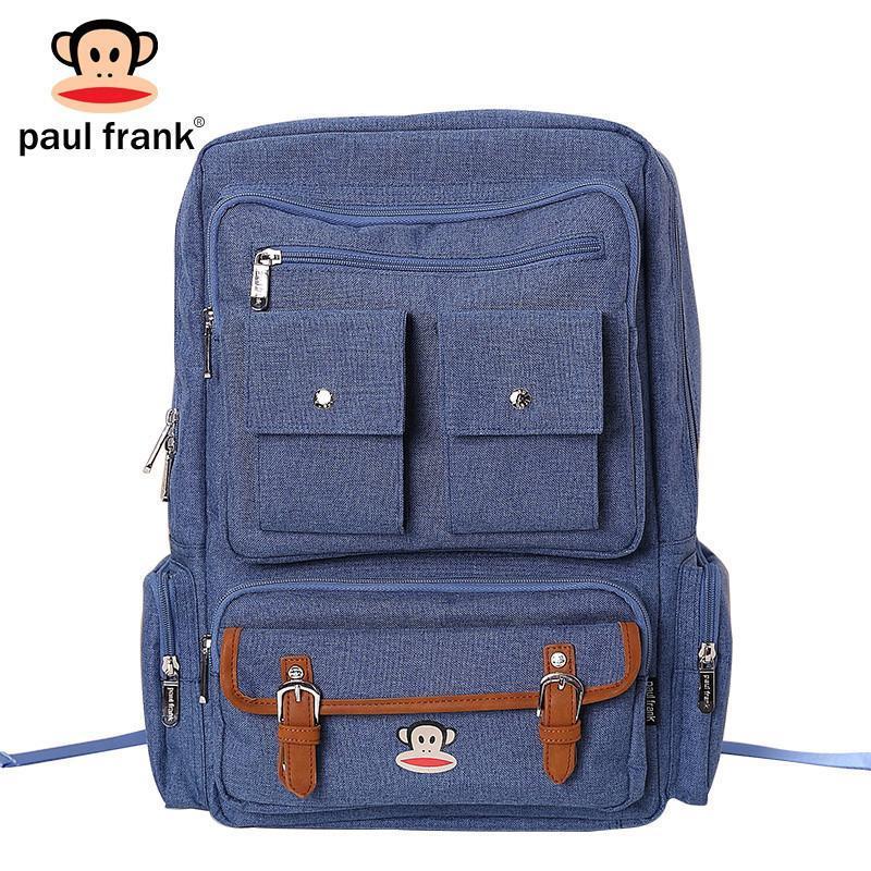 大嘴猴(paul frank)时尚休闲数码双肩包 男生女生背包旅行包包 上青
