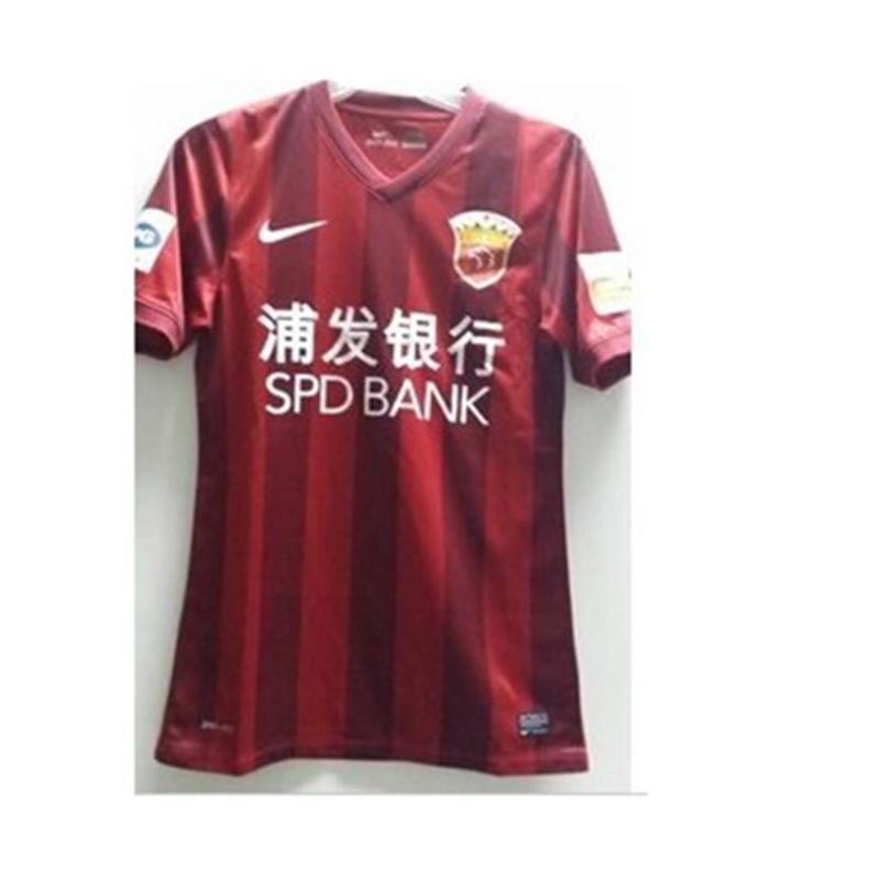 2014年新款中超上海上港队主场球迷版球衣 浦