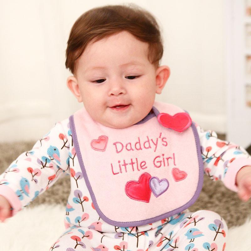 美国熊宝宝小围嘴纯棉宝宝口水巾双层儿童围兜卡通图案立体造型 浅粉