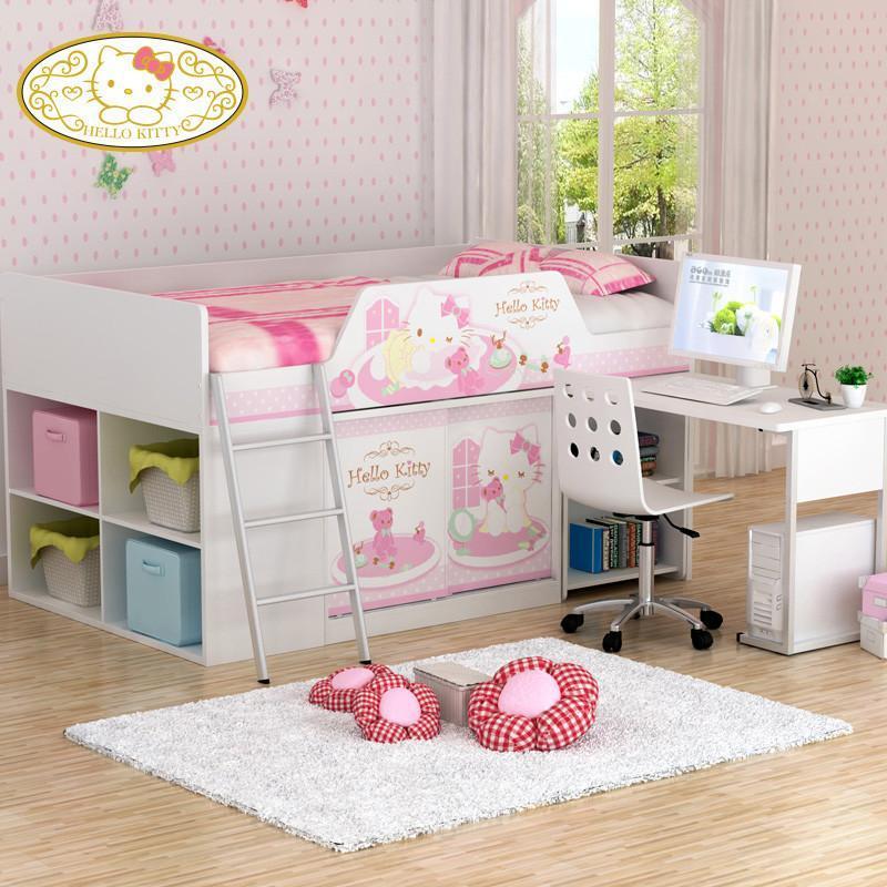 kitty公主女孩儿童床