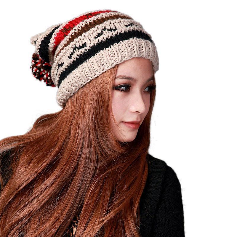 deniso秋冬女士女款手工编织帽子针织帽ds-1204