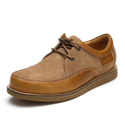 jumbougg简帛设计师新款男鞋真皮冬季商务休闲鞋男皮鞋6650 栗色 40码