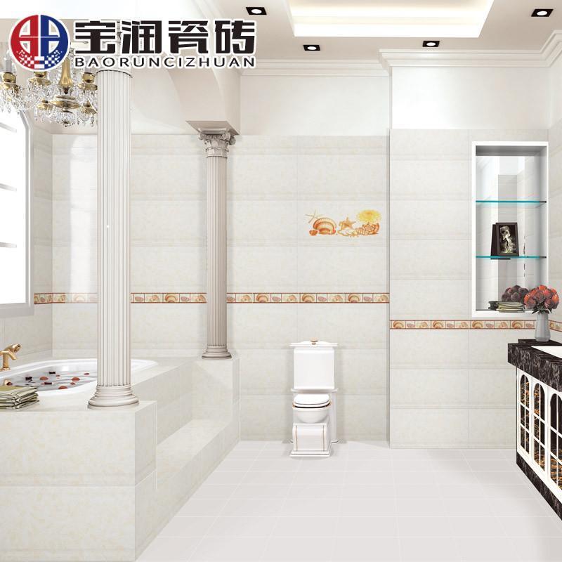 宝润瓷砖 厨房卫生间地砖墙砖阳台地板砖防滑地面砖墙面砖厨卫浴室