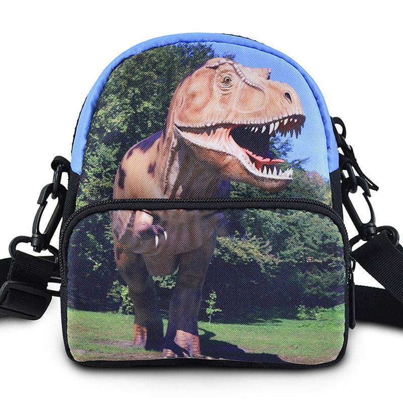 比斯达 2014新款 男女通用款 高清立体图案 动物头像 恐龙腰包/斜挎包