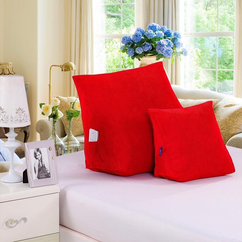 三角靠垫沙发靠枕头办公室床头背靠垫腰