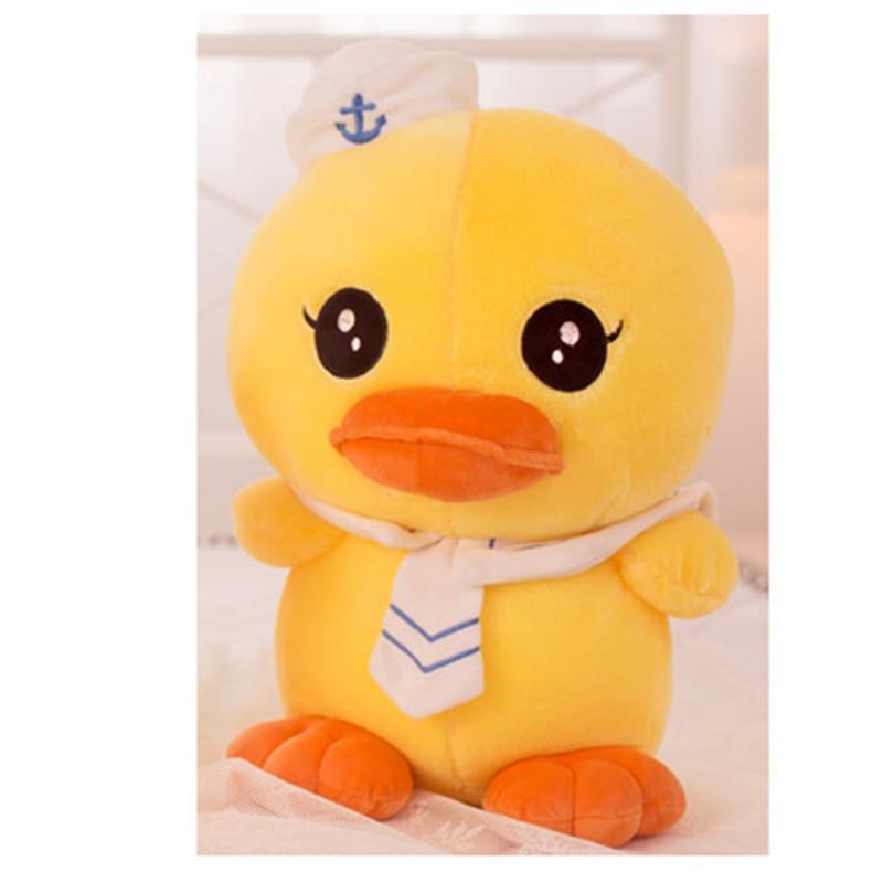 可爱卡通鸭子公仔 海军情侣大黄鸭毛绒玩具布娃娃