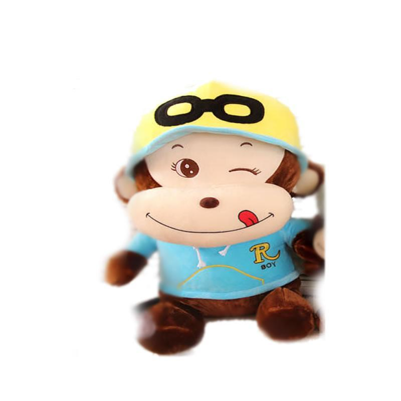 luckyted可爱卡通戴帽子猴子公仔