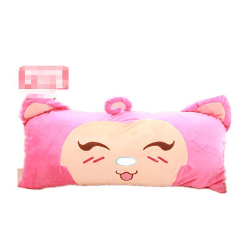 包邮毛绒卡通双人单人可拆洗枕头抱枕靠垫午睡枕创意