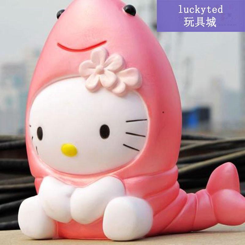 d1luckyted hellokitty创意储钱罐乔巴帽子站姿kt猫存钱罐凯蒂猫玩偶图片