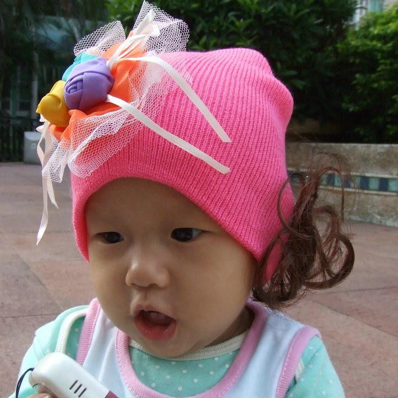 玫瑰花帽子韩版图片