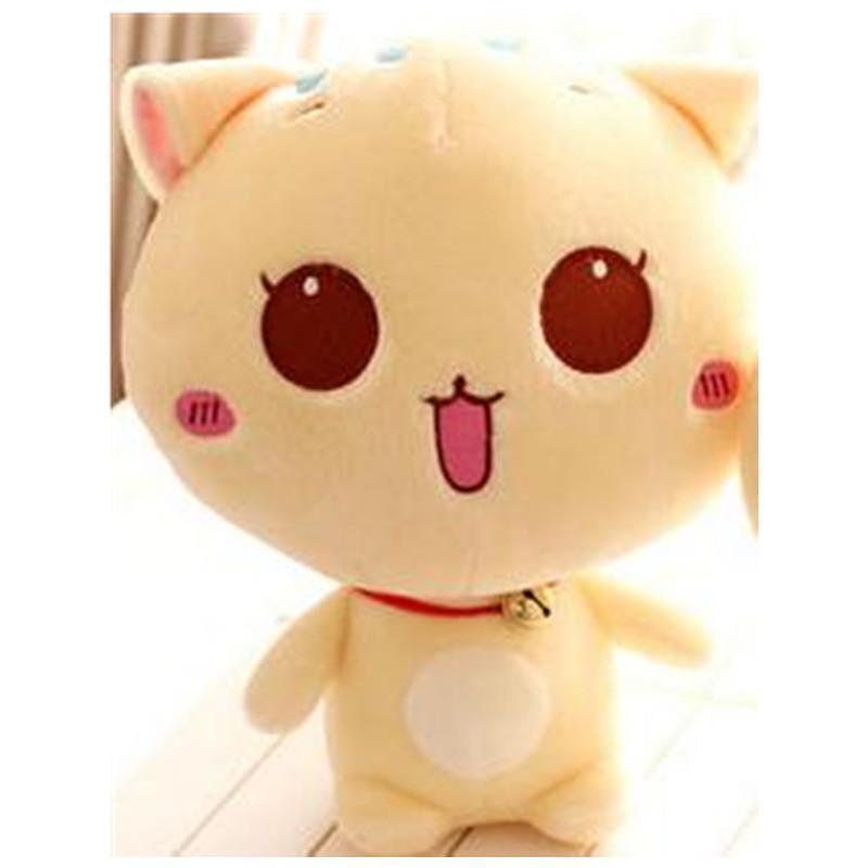 萌可爱叮当猫公仔 大眼睛猫咪卡通小猫毛绒玩具娃娃