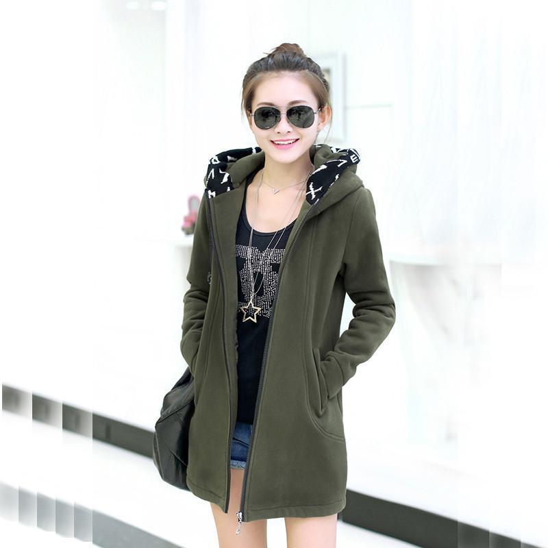 【伊则】伊则2014秋装外套韩版大码女装中长款全棉连