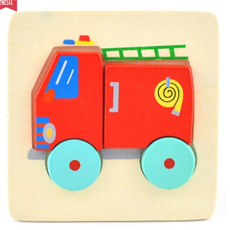 木质立体拼图玩具 木制动物积木拼图儿童拼板