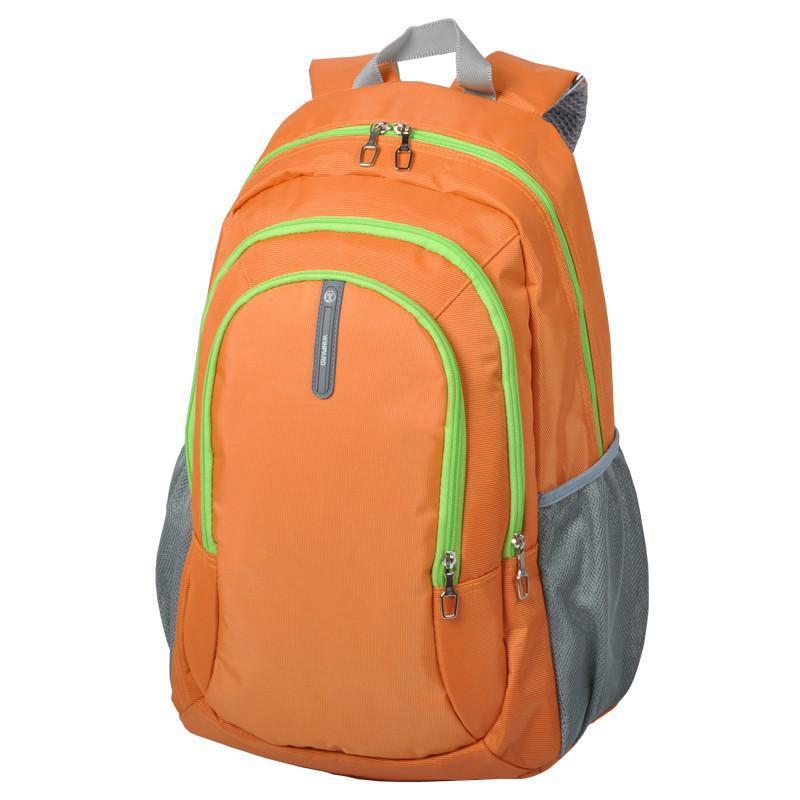 威豹双肩包男女时尚背包三层拉链双背包旅行包休闲包1662标准版 橙色图片