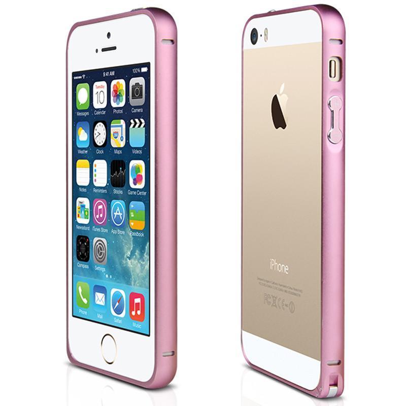 ydo新款苹果5手机壳 5s金属边框 iphone5s手机壳5s手机套外壳 粉色弧