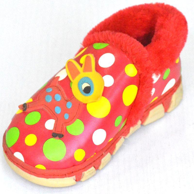 秋冬新款男女儿童卡通可爱包跟棉拖鞋保暖童