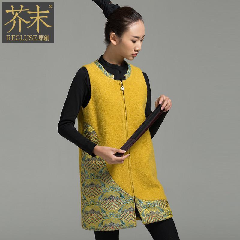 【芥末原创】【芥末原创】皇锦/中国风毛呢连衣裙图片