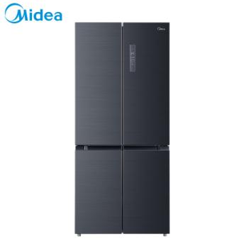 美的(Midea)BCD-507WTPZM(E)507升十字对开门 19分钟急速净味 一级能效 节能变频风冷无霜家用冰箱