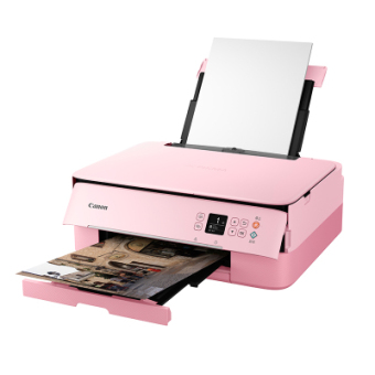 佳能TS5380智能喷墨彩色手机照片打印机复印一体机扫描家用办公a4小型家用多功能三合一学生黑白相片无线wifi