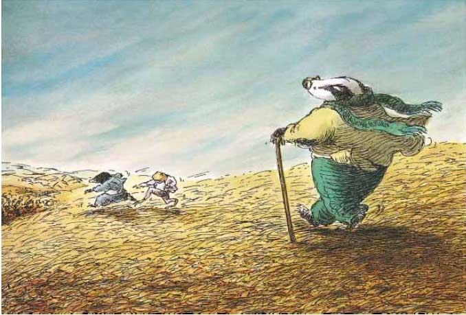 信谊图画书:獾的礼物图片