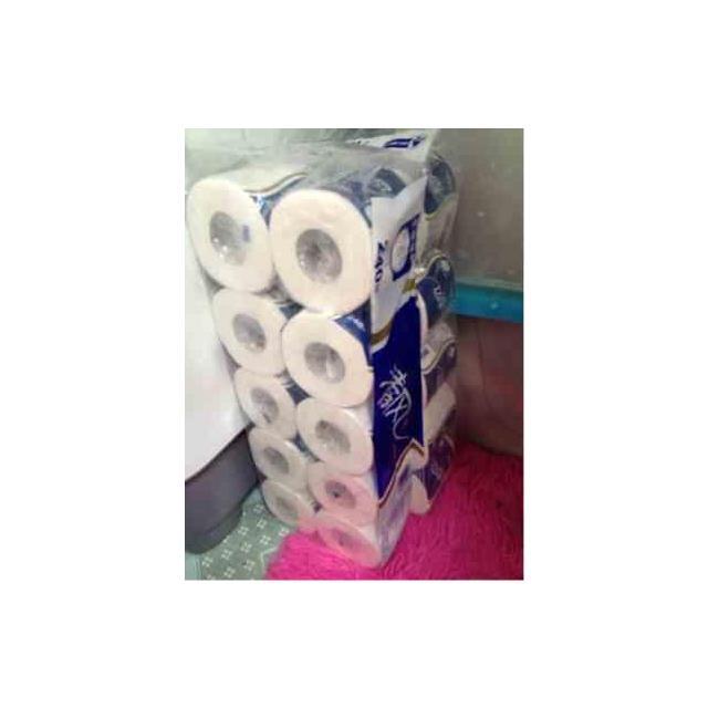 清风 卷纸 几何强韧卷筒卫生纸3层240段10卷筒卫生纸
