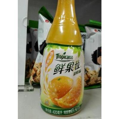 纯果乐鲜果粒420ml瓶装高清图片实拍图苏宁易购