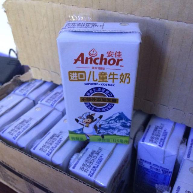 安佳进口儿童牛奶125ml*27家庭环保装