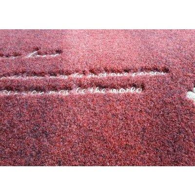 地毯针织地垫脚垫门口卧室床边地毯40x60 50x80 酒红色 40*60cm