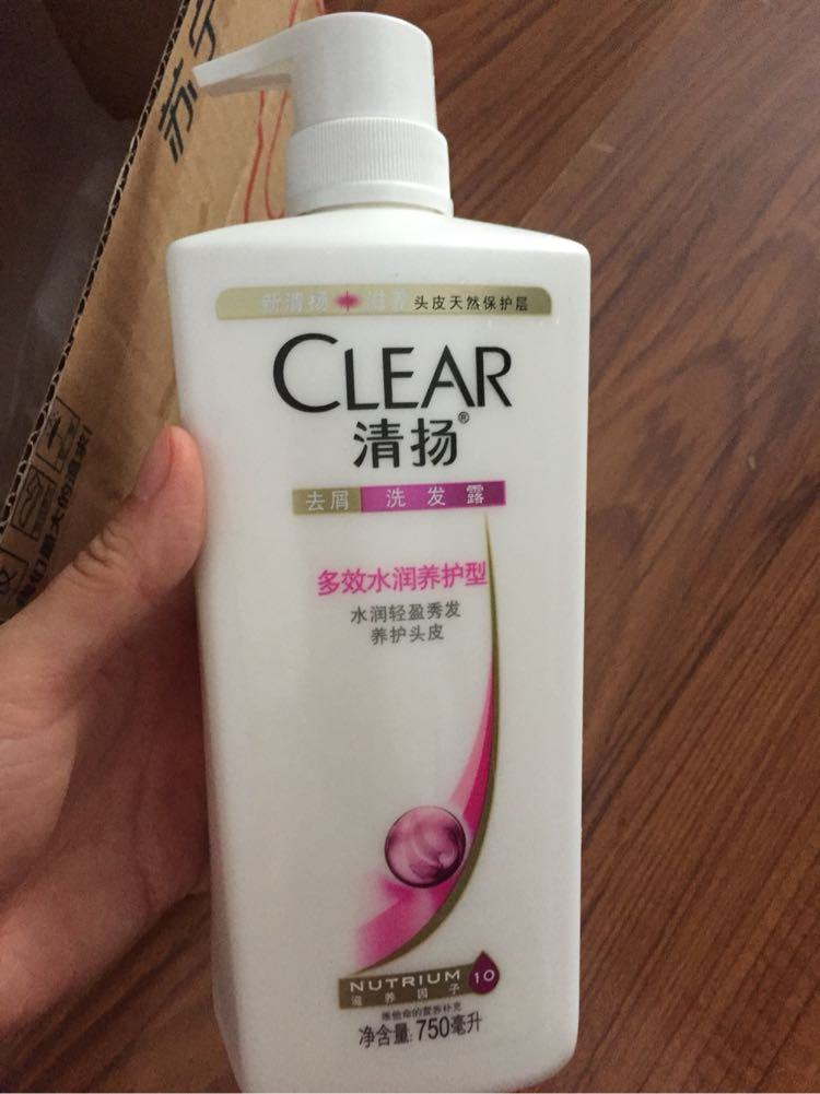 清扬(clear)洗发水 女士去屑洗发露 多效水润养护型750g【联合利华】