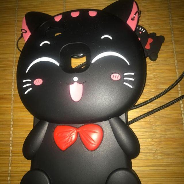 x6黑色猫咪5.2寸送高档挂绳