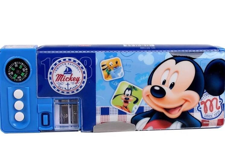 小�9�(9�d_迪士尼米妮多功能文具盒儿童笔盒男女小学生米奇塑料铅笔盒d01066晒单
