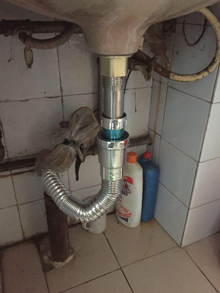 面盆下水安装_君泉(junquan) 水槽下水器 加厚普通陶瓷洗脸盆面盆不锈钢下水器 翻盖