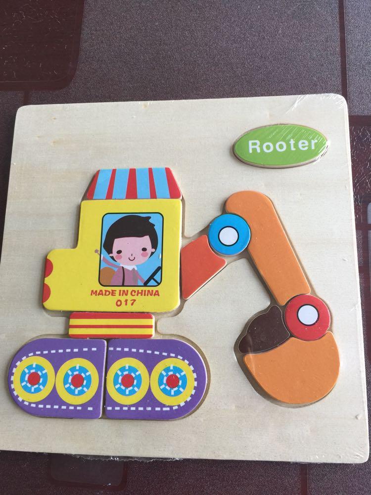 麦宝创玩 立体木质动物拼图儿童积木制早教益智力拼板 卡通木质拼图6