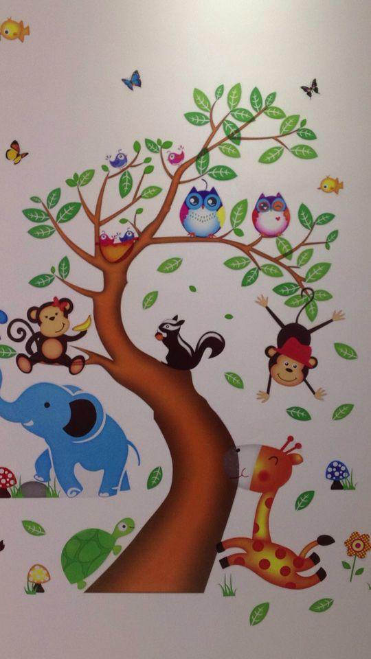 树叶宝宝儿童画