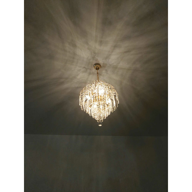 > 蒙特丽水晶吊灯客餐厅卧室灯 金树银花灯饰具5052-420商品评价 > 还