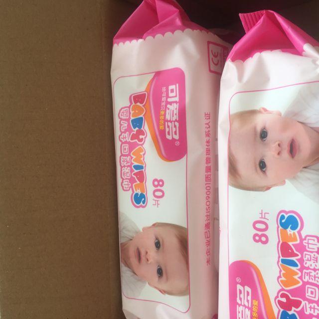 洗护用品 孕妈护肤 孕婴洁肤 可爱多 【苏宁自营】可爱多湿巾80片盖装