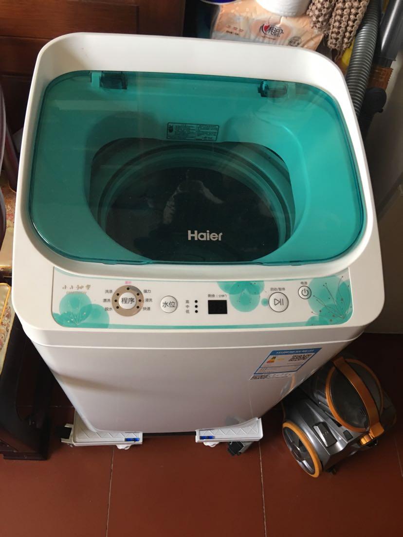 洗衣机甩干_3公斤kg 小型全自动波轮小洗衣机 宝宝儿童母婴儿洗衣机 甩干脱水晒单