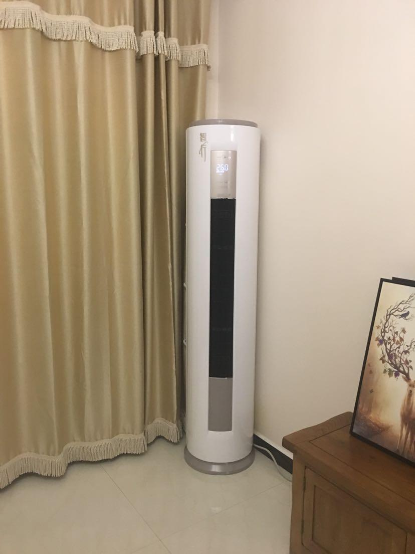 【送吸尘器】美的(midea)大2匹冷暖变频圆柱形空调 立柜式 智行kfr-51