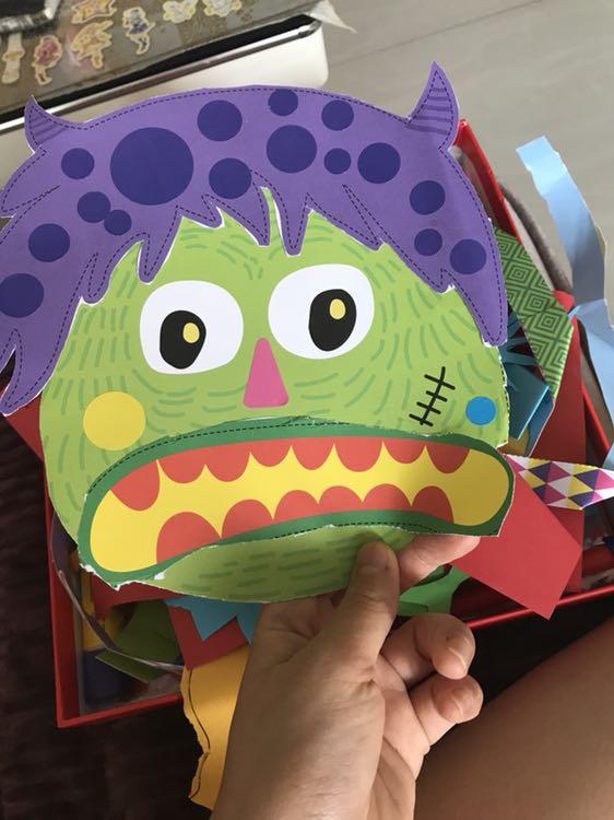 儿童剪纸折纸手工玩具儿童手工书制作材料diy卡通动物形象幼儿园手工图片
