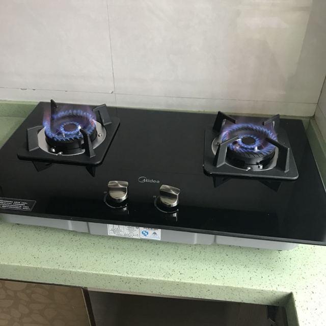 黑晶抛物线火 嵌入式燃气灶具(天然气)jzt-q216b商品评价 > 安装好,已图片