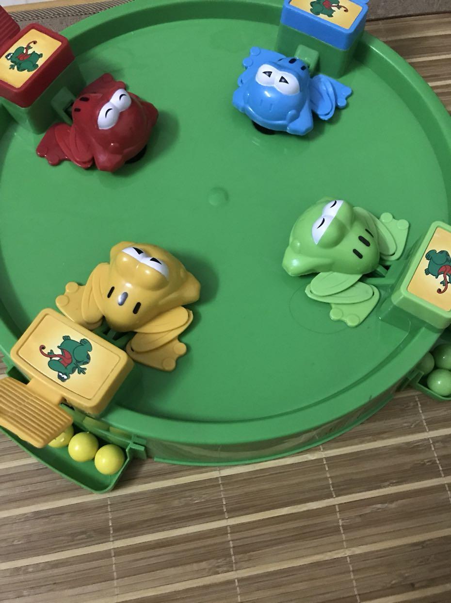 智恩堡/zhienb抖音同款玩具青蛙吃豆1-3岁亲子互动塑料游戏环保乐园超级积木百变桌面步骤图片