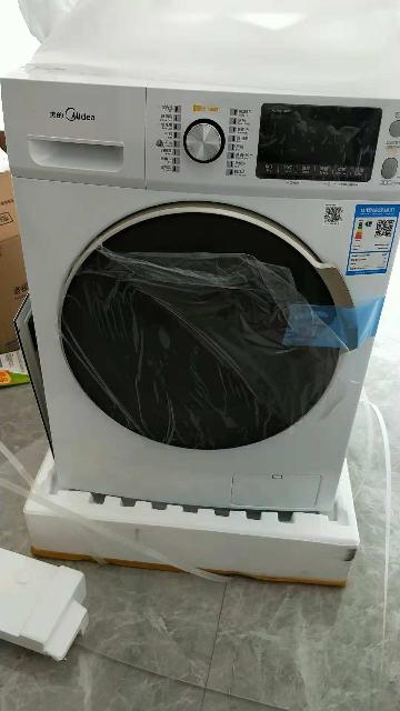 美的(midea)md100v71wdx 10公斤全自动洗干一体机滚筒洗衣机 干衣机