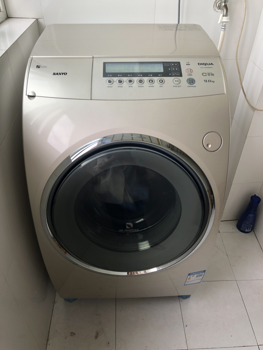 三洋(sanyo) 9公斤洗干一体机 dd直驱变频空气洗 滚筒洗衣机全自动