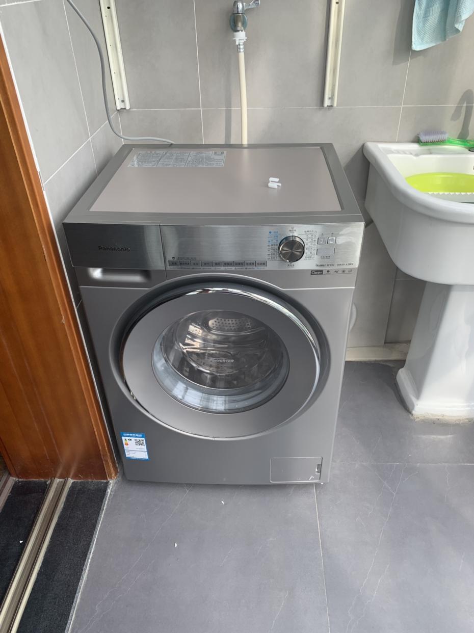 松下(panasonic)10公斤全自动滚筒洗衣机变频静音超薄 光动银除菌 洗