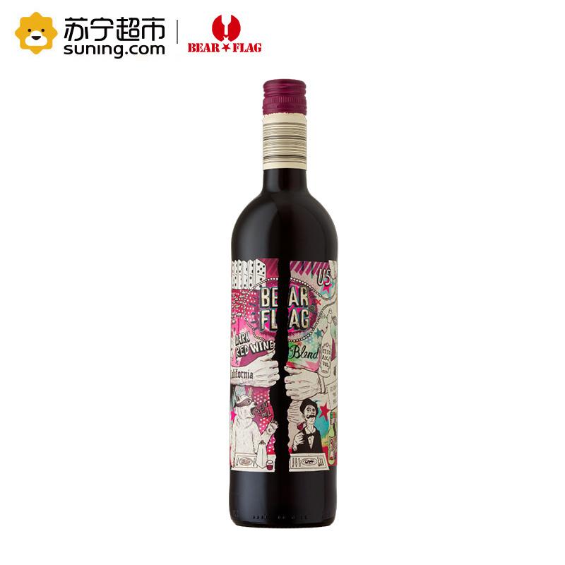 《【苏宁自营】熊旗TM加州深红混酿干红 9.95元(双重优惠)》