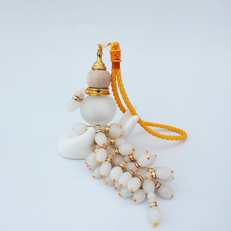 新款大珠串珠水晶葫芦香水瓶 汽车香水挂件