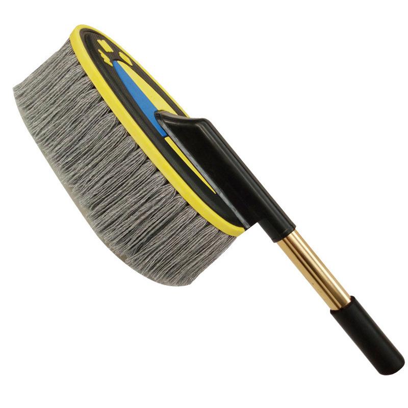捷欧得(Genautoment)汽车除尘掸子擦车拖把 豪华款伸缩式金属手柄清洁美容清洗工具