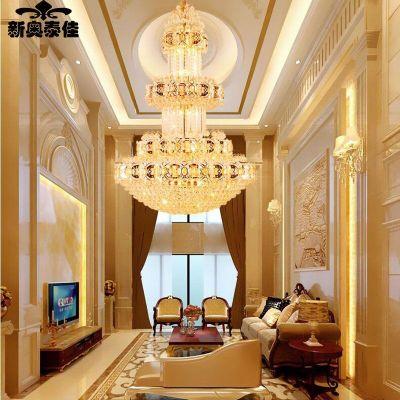 樓客廳大吊燈樓中樓樓梯長吊燈酒店別墅中空工程燈