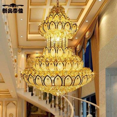 新奥泰佳欧式大厅大吊灯别墅楼梯灯楼中楼长吊灯水晶