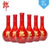 【酒厂自营】郎酒 红花郎10 53度酱香型白酒558ml X6瓶
